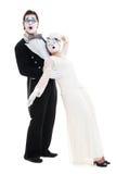 μακριά εξασθενημένο mime Στοκ εικόνα με δικαίωμα ελεύθερης χρήσης