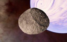 Μακριά μετεωρίτης στο βαθύ διάστημα Στοκ φωτογραφία με δικαίωμα ελεύθερης χρήσης