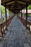 Μακριά ξύλινη γέφυρα Στοκ φωτογραφία με δικαίωμα ελεύθερης χρήσης