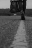 μακριά περπατώντας Στοκ Εικόνες