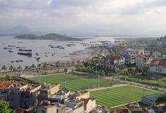 Μακριά πόλη εκταρίου, το βόρειο τμήμα του Βιετνάμ Στοκ Εικόνες