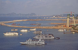 Μακριά πόλη εκταρίου, το βόρειο τμήμα του Βιετνάμ Στοκ εικόνες με δικαίωμα ελεύθερης χρήσης