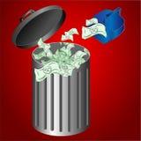 μακριά ρίψη χρημάτων Στοκ Φωτογραφίες