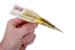 μακριά ρίψη χρημάτων στοκ φωτογραφία με δικαίωμα ελεύθερης χρήσης