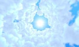 Μακριά σήραγγα των σύννεφων Στοκ Εικόνες