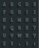 Μακριά σκιά alfabet Στοκ Φωτογραφία