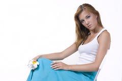 μακριά φούστα κοριτσιών Στοκ φωτογραφίες με δικαίωμα ελεύθερης χρήσης