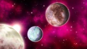 Μακρινή διαστημική σκηνή βρόχος απεικόνιση αποθεμάτων