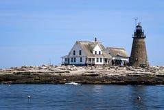 Μακρινός φάρος νησιών φιαγμένος από Stone στο Μαίην Στοκ Φωτογραφία
