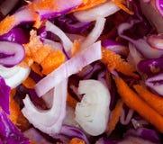 μακροεντολή εικόνας λάχανων slaw Στοκ φωτογραφία με δικαίωμα ελεύθερης χρήσης