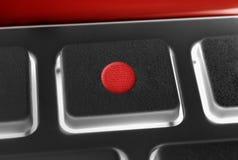 Μακροεντολή ενός μαύρου κουμπιού αρχείων ενός μαύρου τηλεχειρισμού με Backlight Στοκ Φωτογραφία