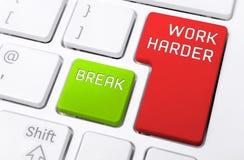 Μακροεντολή ενός πληκτρολογίου με την εργασία σκληρότερη και τα κουμπιά σπασιμάτων Στοκ εικόνα με δικαίωμα ελεύθερης χρήσης