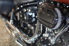 Μακροεντολή μηχανών μοτοσικλετών στοκ εικόνες