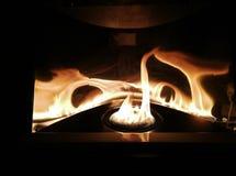 Μακροεντολή μιας φλόγας σομπών κηροζίνης Στοκ εικόνες με δικαίωμα ελεύθερης χρήσης