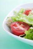 Μακροεντολή σαλάτας στοκ εικόνα