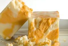 μακροεντολή τυριού Cheddar Στοκ Εικόνα