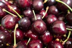 Μακροεντολή των σκούρο κόκκινο καρπών του γλυκού κερασιού Στοκ φωτογραφία με δικαίωμα ελεύθερης χρήσης
