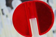 Μακροεντολή ανακλαστήρων κόκκινου φωτός Στοκ εικόνα με δικαίωμα ελεύθερης χρήσης