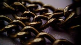 μακροεντολή αλυσίδων Στοκ Φωτογραφία