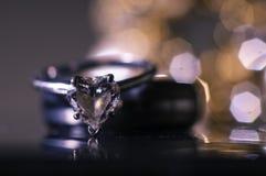 Μακροεντολή γαμήλιων δαχτυλιδιών Στοκ Εικόνες