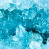 Μακροεντολή ενός χρώματος aquamarine geode Στοκ Φωτογραφίες