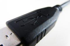 Μακροεντολή καλωδίων USB στοκ εικόνα με δικαίωμα ελεύθερης χρήσης