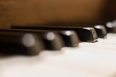 Μακροεντολή κλειδιών πιάνων - εκλεκτής ποιότητας κινηματογράφηση σε πρώτο πλάνο πιάνων Στοκ φωτογραφίες με δικαίωμα ελεύθερης χρήσης