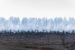 Μακροεντολή παγετού Στοκ φωτογραφία με δικαίωμα ελεύθερης χρήσης