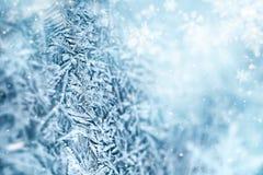 Μακροεντολή του κρυστάλλου παγετού στοκ εικόνες με δικαίωμα ελεύθερης χρήσης