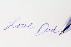 Μπαμπάς αγάπης Στοκ φωτογραφίες με δικαίωμα ελεύθερης χρήσης