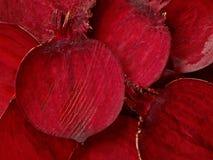 Μακροεντολή φετών παντζαριών Στοκ Εικόνες