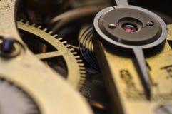 Μακροεντολή internals των παλαιών ρολογιών Στοκ Εικόνες