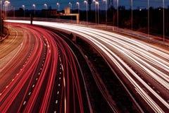 Μακροχρόνια έκθεση - αυτοκινητόδρομος Στοκ Εικόνες