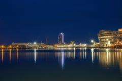 μακροχρόνια έκθεση στη Βαρκελώνη Στοκ Εικόνες