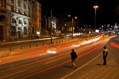 Μακροχρόνια έκθεση στη Ιστανμπούλ, Karakoy Στοκ φωτογραφίες με δικαίωμα ελεύθερης χρήσης