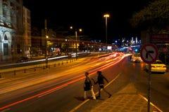 Μακροχρόνια έκθεση στη Ιστανμπούλ, Karakoy Στοκ φωτογραφία με δικαίωμα ελεύθερης χρήσης
