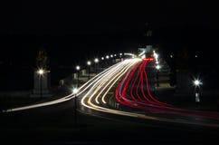 Μακροχρόνια έκθεση της αναμνηστικής γέφυρας Στοκ Φωτογραφίες