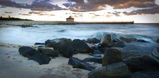 Μακροχρόνια κύματα έκθεσης Στοκ Εικόνες