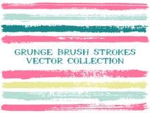 Μακροχρόνια μελανιού στοιχεία σχεδίου βουρτσών απομονωμένα κτυπήματα Σύνολο γραμμών χρωμάτων διανυσματική απεικόνιση