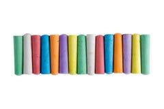 Μακροχρόνια σειρά των κιμωλιών στα χρώματα του ουράνιου τόξου Στοκ φωτογραφία με δικαίωμα ελεύθερης χρήσης