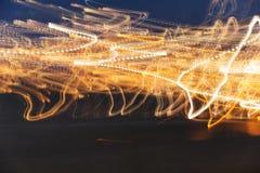 Μακροχρόνιες ελαφριές ραβδώσεις έκθεσης Στοκ Εικόνα