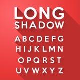 Μακροχρόνιο επίπεδο αλφάβητο σκιών Στοκ Εικόνες
