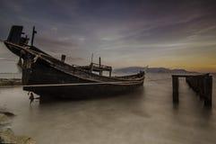 Μακροχρόνιο ηλιοβασίλεμα έκθεσης Στοκ Εικόνες