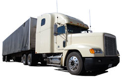 μακροχρόνιο λευκό truck έλξης Στοκ εικόνες με δικαίωμα ελεύθερης χρήσης