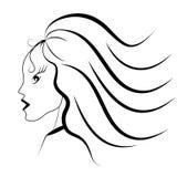 μακροχρόνιο πορτρέτο τριχώ& Διανυσματική απεικόνιση