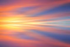 Μακροχρόνιο υπόβαθρο ηλιοβασιλέματος έκθεσης Στοκ Εικόνες