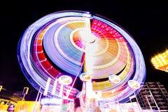 Μακροχρόνιο φως έκθεσης στο πάρκο διασκέδασης Στοκ Εικόνες