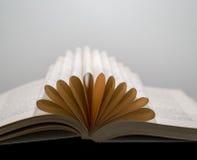 Μακρο άποψη των σελίδων βιβλίων που δημιουργούν μια εννοιολογική μορφή λουλουδιών Στοκ Εικόνες