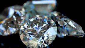 Μακρο βίντεο διαμαντιών απόθεμα βίντεο