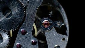 Μακρο βρόχος μηχανισμών ρολογιών Παλαιά εκλεκτής ποιότητας εργασία μηχανισμών ρολογιών απόθεμα βίντεο